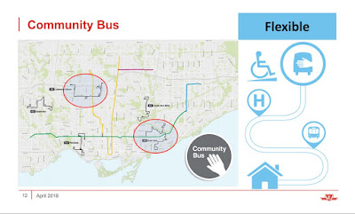 Community Bus routes on a map