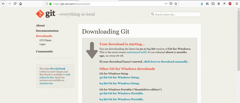 halaman download git