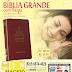 BÍBLIA GRANDE vinho, COM HARPA - LETRA GRANDE