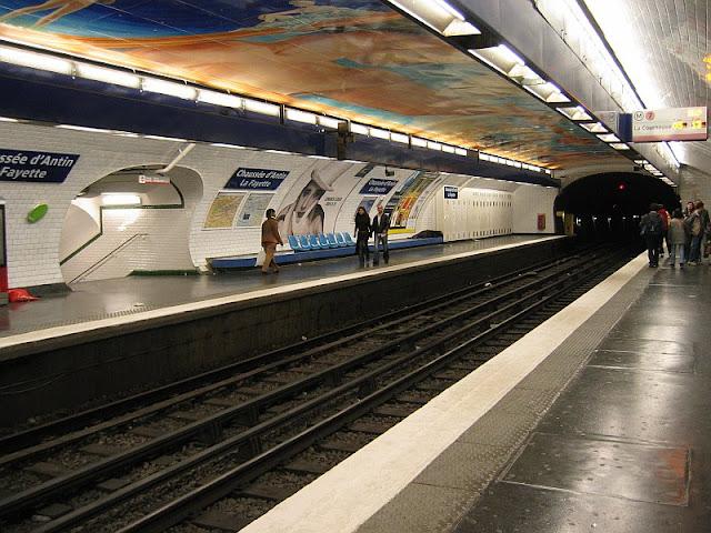 As estações de metrô mais bonitas e diferentes de Paris - Chaussee d´Antin