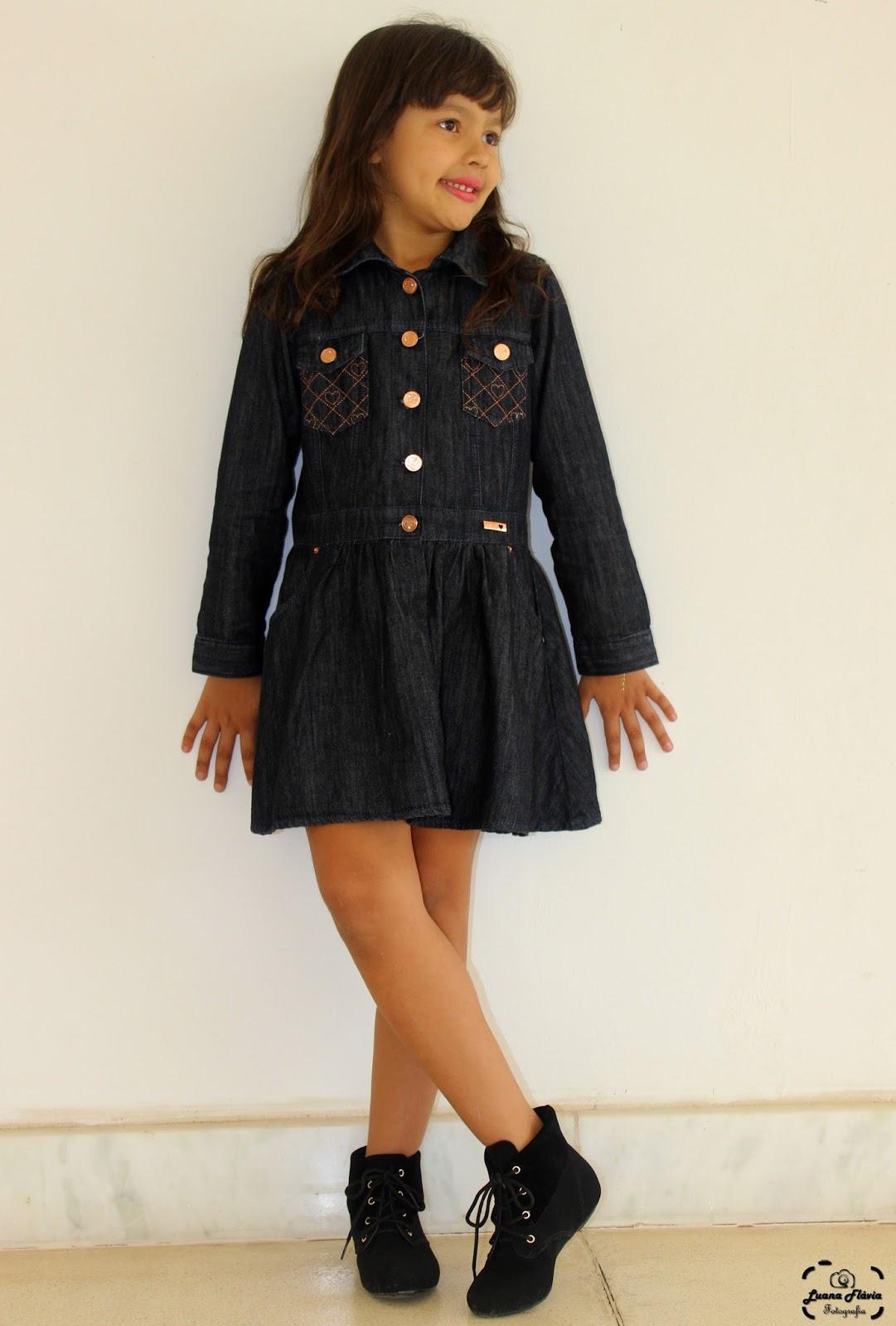 be994b36874403 Blog da Lilian Brito: Vestido jeans em crianças é tendência. Vem ver ...