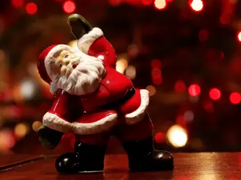 Christmas decoration with Santa Claus for Blogspot