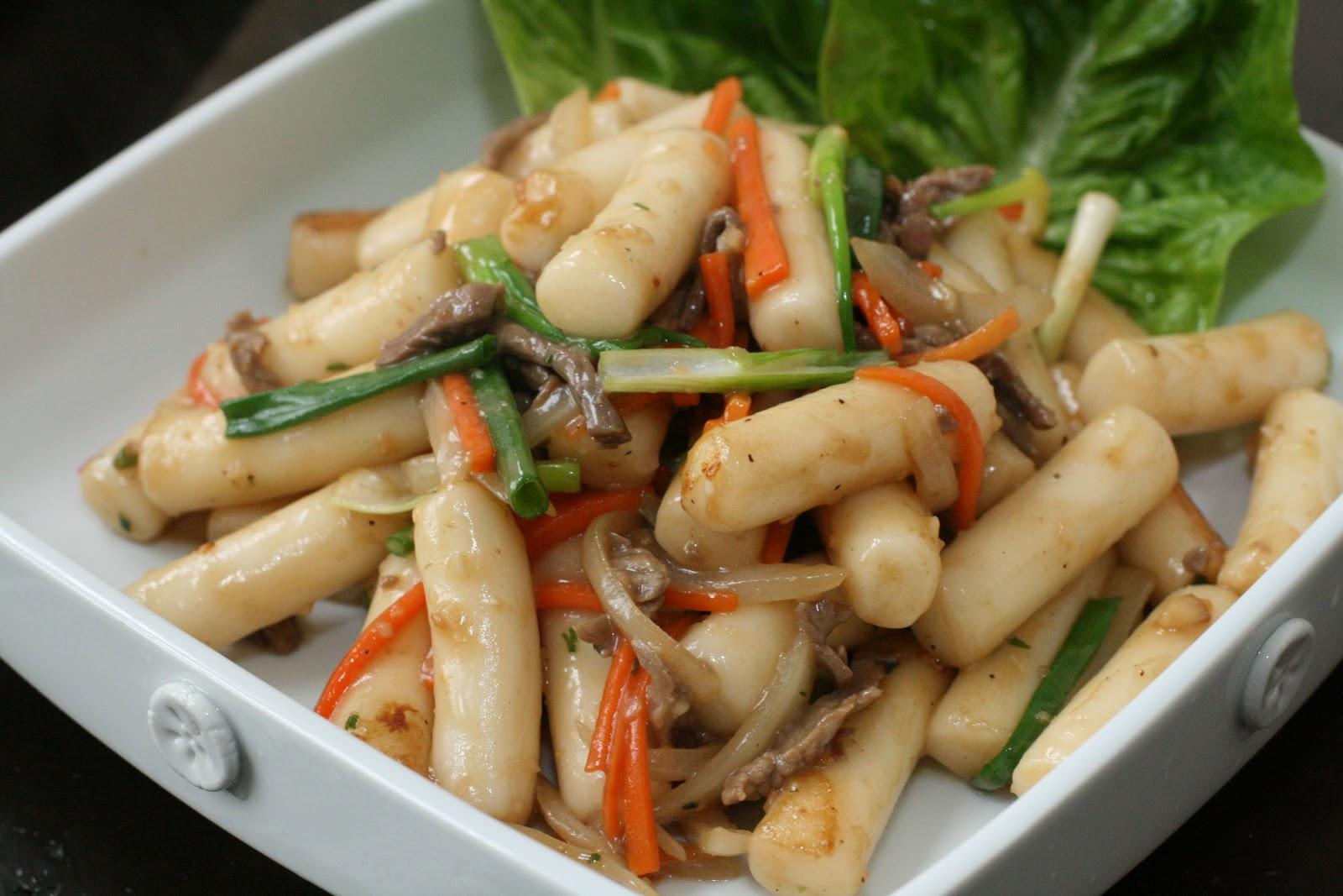 Rice Cake Recipe Korean Spicy: Week Of Menus: Korean Stir Fried Non-Spicy Rice Cake