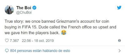 Antoine Griezmann fue expulsado de FIFA tras descubrirse que compró Monedas FUT