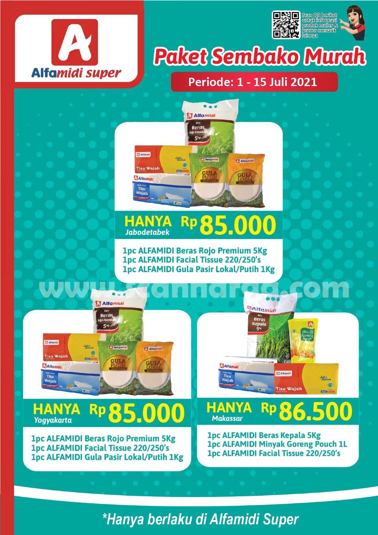 ALFAMIDI Promo Paket Sembako Murah Periode 1 - 15 Juli 2021