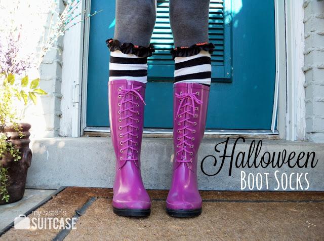 halloween boot socks