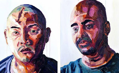 Paintings of Andrew Chan and Myuran Sukumaran, by M. Sukumaran