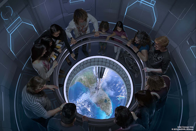 Space Elevator Concept Art Space 220 Epcot Restaurant