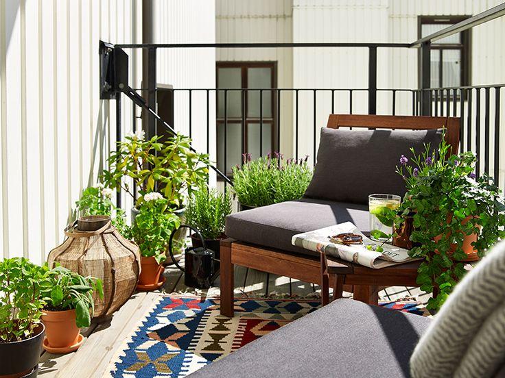 home garden 60 id es pour am nager son balcon. Black Bedroom Furniture Sets. Home Design Ideas