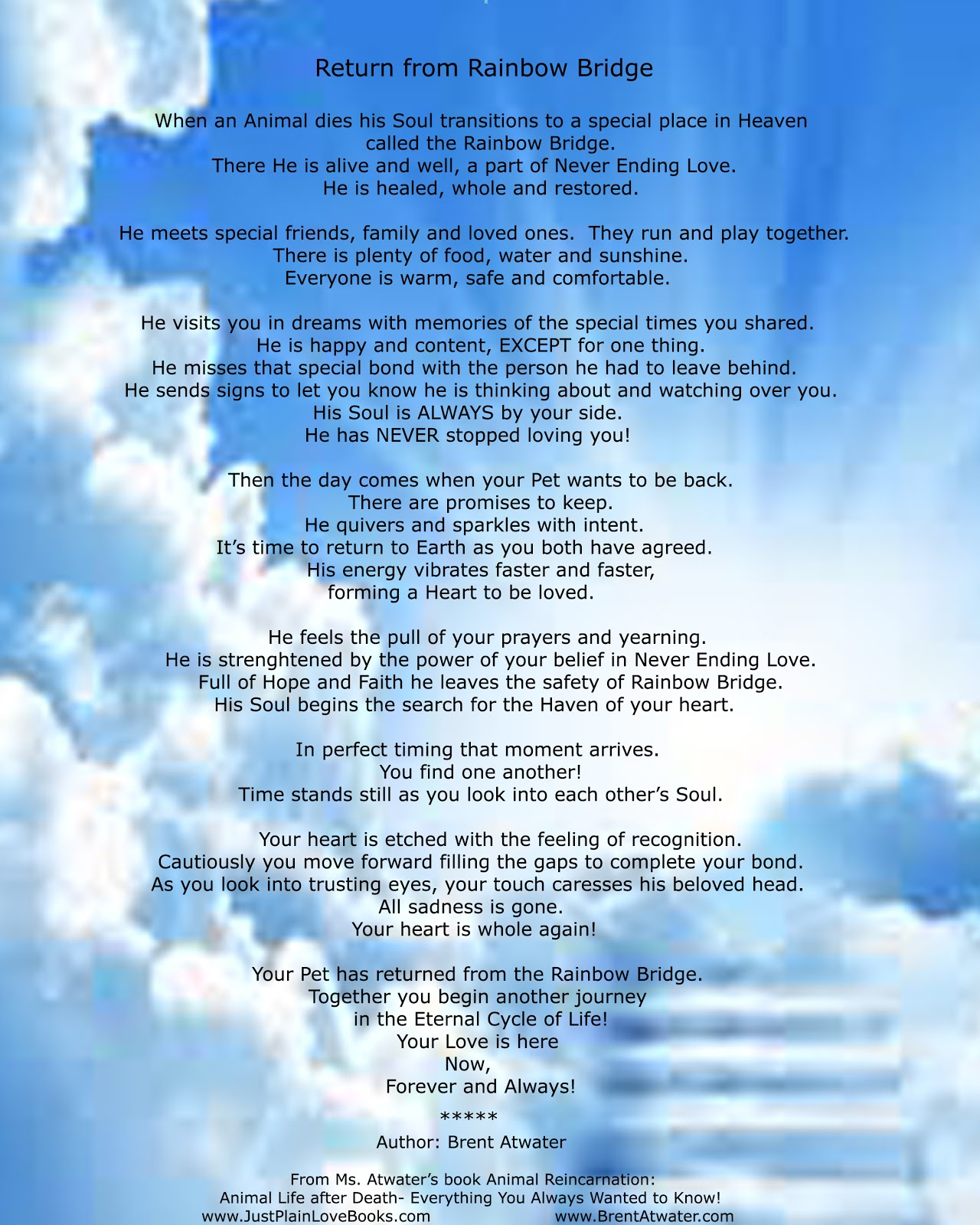 Rainbow Bridge Poem For Pets L Pet Heaven L Animal Afterlife L