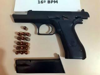 Palmital: PM apreende arma de fogo e munições durante abordagem