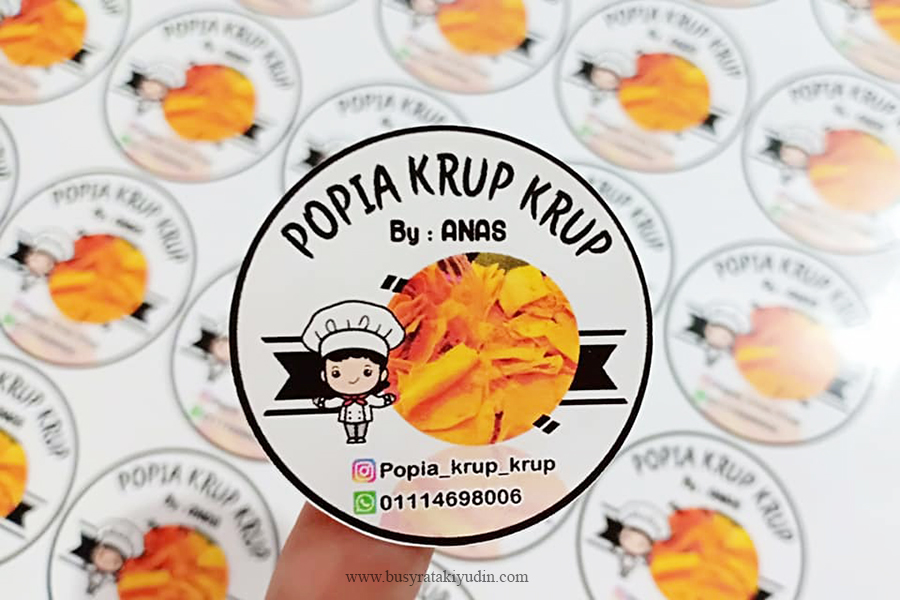 label sticker, sticker makanan, sticker murah 4cm,