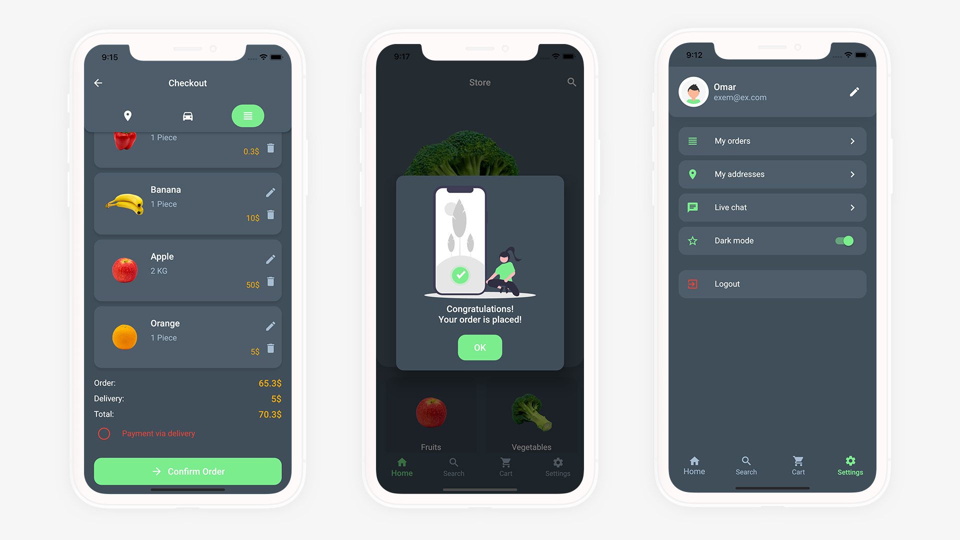 Flutter Grocery: Full Android + iOS eCommerce App - 20