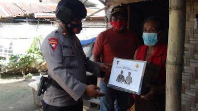 Brimob Polda Sumut Kembali Salurkan Bantuan Kepada Masyarakat