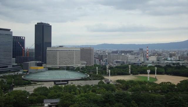 Panorama dal castello di Osaka