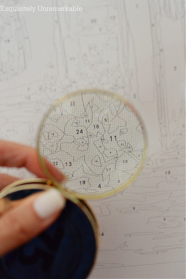Magnifying  Glass For Paint By Numbers