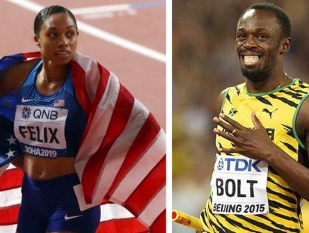 US athlete, Allyson Felix breaks one of Usain Bolt's world records
