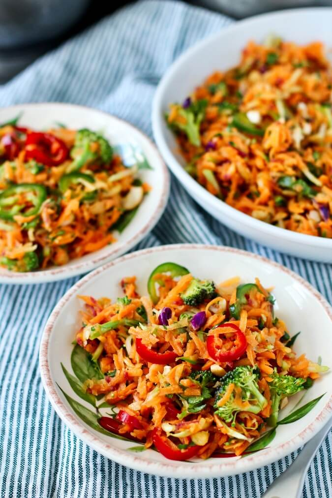 Carrot and Fresno chile salad