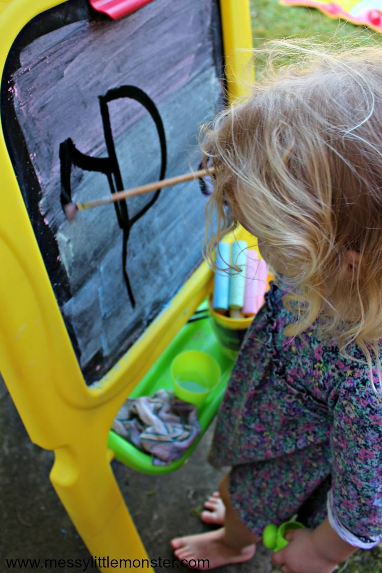 outdoor activities for kids - painting with water