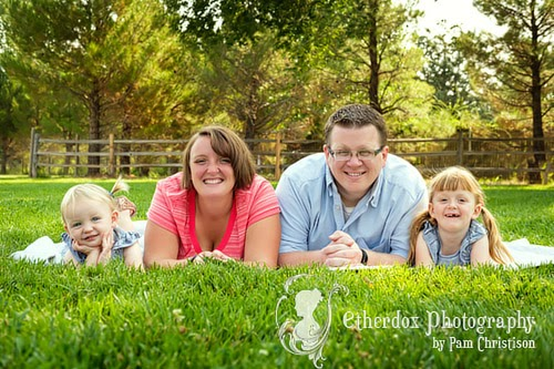 professional portrait of a beautiful family in Albuquerque