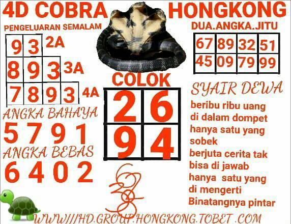 Kode syair Hongkong Minggu 18 Oktober 2020 11