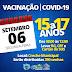 NOVO HORIZONTE-BA: VACINAÇÃO CONTRA A COVID-15 A 17 ANOS ( 06 DE SETEMBRO 2021)