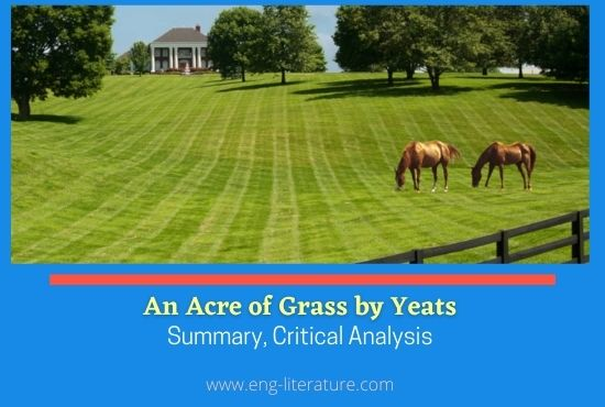 An Acre of Grass by W.B. Yeats, Summary, Critical Analysis, Representative Poem