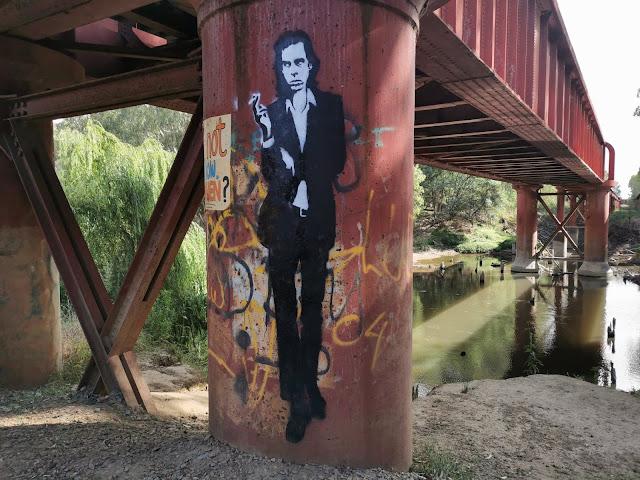 Nick Cave Street Art in Wangaratta