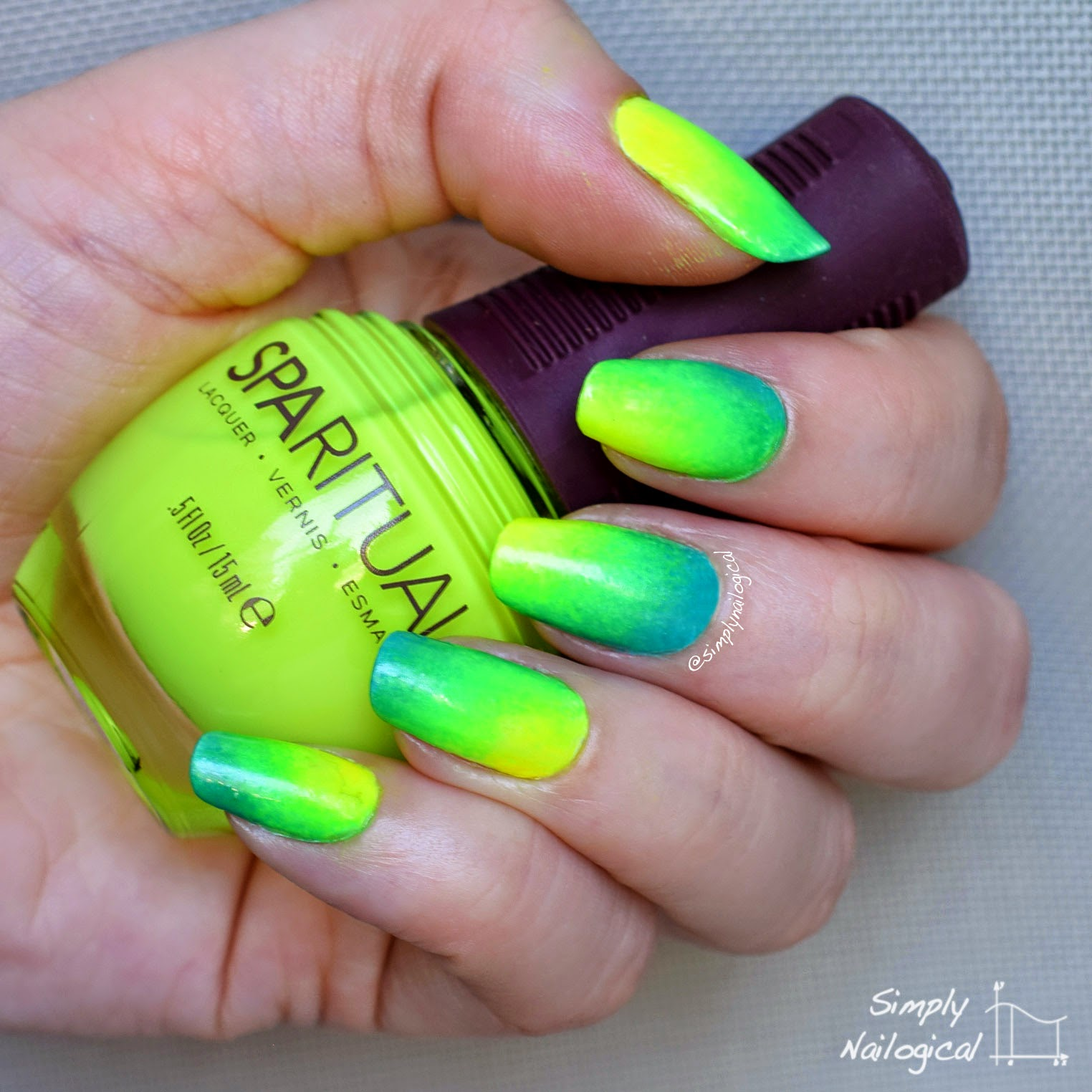 Just Paint The Polish On Make Up Sponge In A Ripple Effect Type Arrangement With Yellow Corner As Nucleus Then Green Outside That