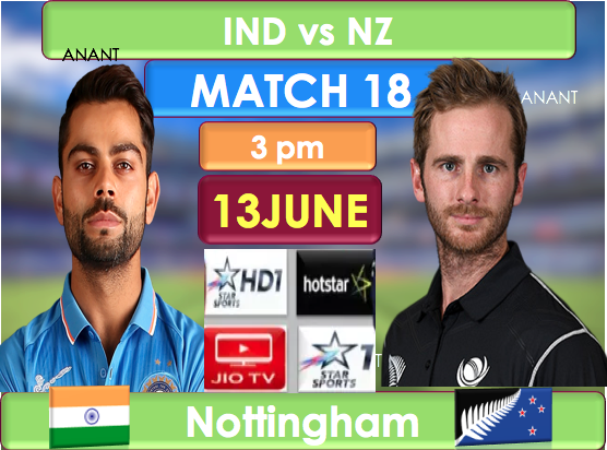 Match Preview : India vs NewZealand ,Match number 18 world cup 2019