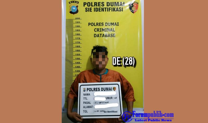 Tim Opsnal Polsek Dumai Timur Amankan DE, Pelaku Tindak Pidana Penganiayaan Saksi Perceraian