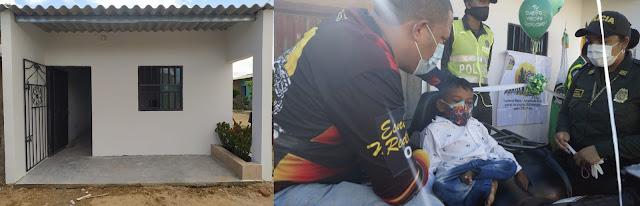 hoyennoticia.com, En un mes la Policía construyó casa a niño discapacitado de Riohacha