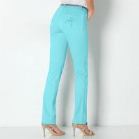 Pantaloni lungi cu buzunare brodate
