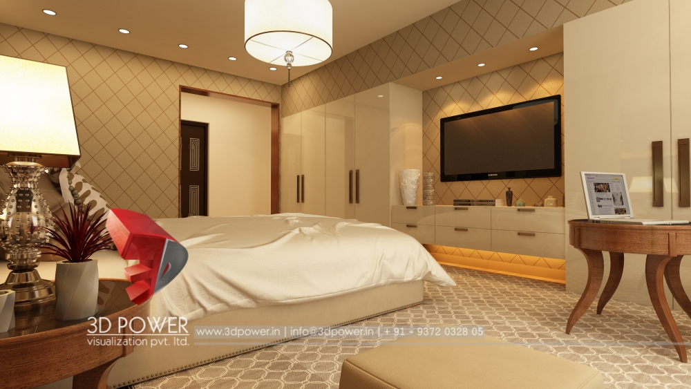 Large Space 3d Bedroom View