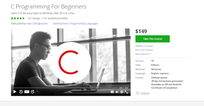Udemy Course : C Programming For Beginners ~ Free Udemy