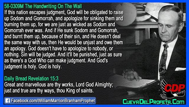 He sunk Sodom and Gomorrah - William Branham