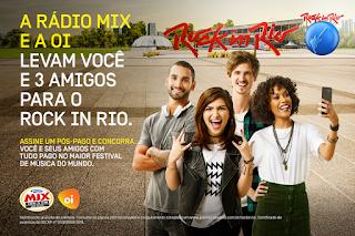 Promoção Rádio MIx e OI