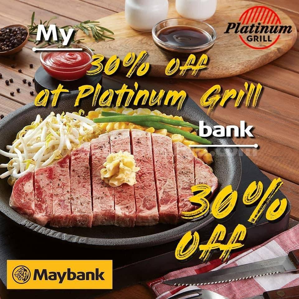 Promo Platinum Grill Diskon 30% dengan Kartu Kredit Maybank