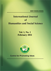 International Journal of Humanities and Social Science-IJHSS