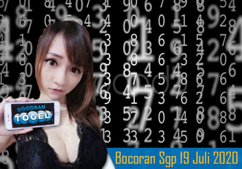 Bocoran Togel SGP 19 Juli 2020