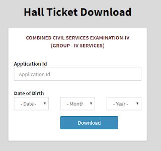 download tnpsc group 4 2019 hall ticket