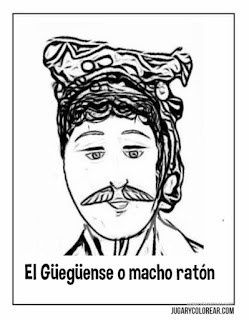 Dibujos para coloear de El Güegüense