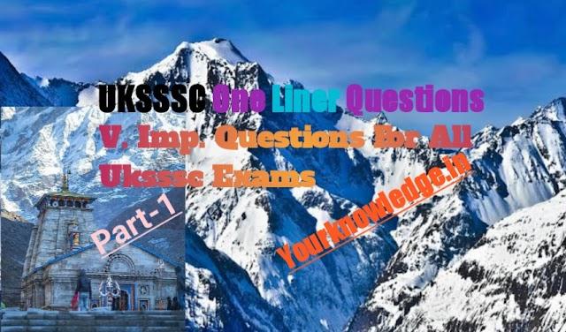 Uttarakhand Gk Part 1