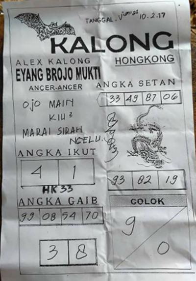 ASYIK PREDICTION: SYAIR HONGKONG JUMAT