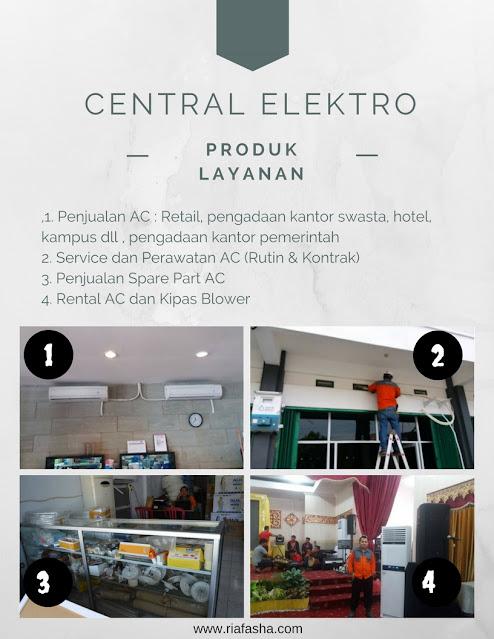 produk dan layanan yang ada di central elektro bengkulu