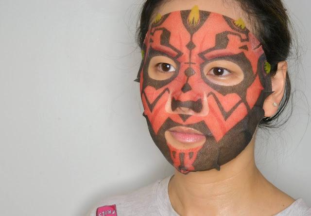 Darth Maul Star Wars Sheet Mask Selfie
