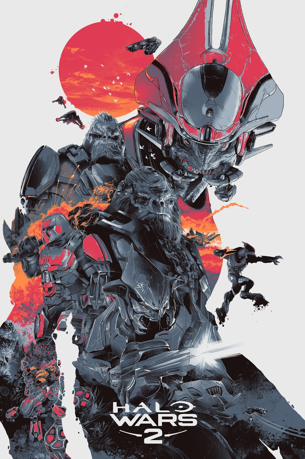 Inside The Rock Poster Frame Blog  Halo Wars 2 Posters By Kevin Tong Gabz And Craig Drake