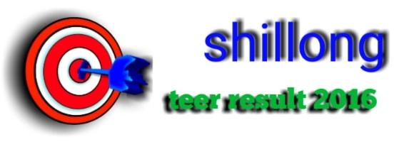 Shillong teer result 2016