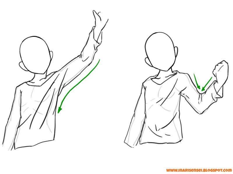 positionner les plis des habits mangas