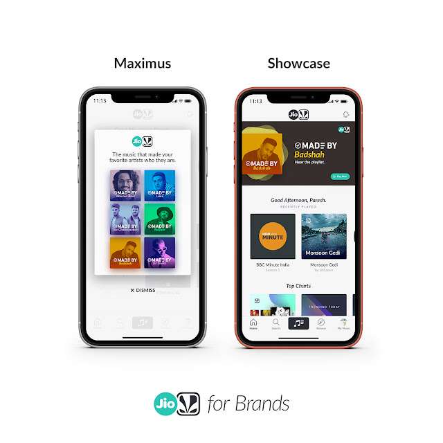 JioSaavn Announces the Launch of new Ad Experiences Maximus and Showcase, as part of Advertising 2.0